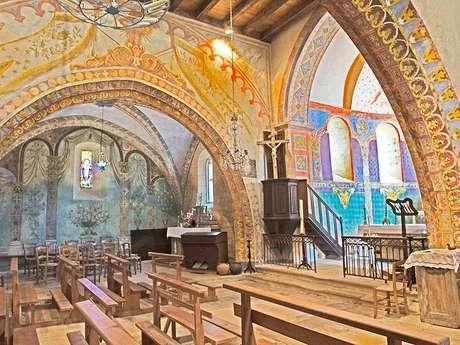 Fresques de l'Église St Georges à St Cirq Madelon