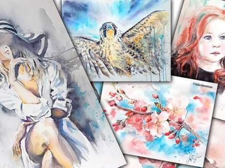 Stages d'Initiation à l'Aquarelle Avec Sofia Johannissen
