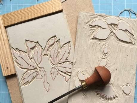 Visite d'Exposition et Atelier Linogravure aux Ateliers des Arques