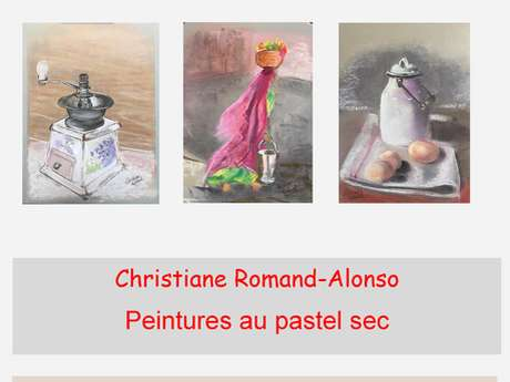 """""""EXPOSITION DE PEINTURE AU PASTEL SEC DE CHRISTIANE ROMAND-ALONSO """""""