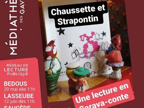 Lecture en carava-conte : Chaussette et strapontin