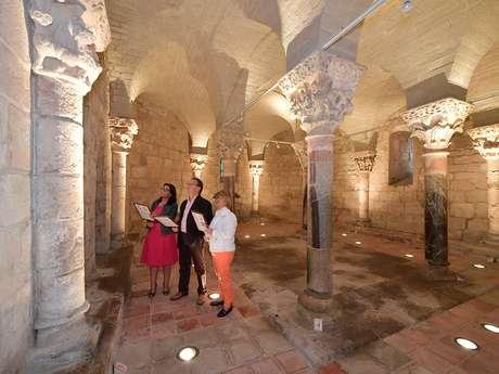 Visite de la crypte de Saint-Girons en octobre