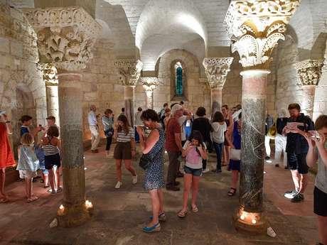 """Visite nocturne de la Crypte de Saint Girons """"Décrypte la Crypte"""""""