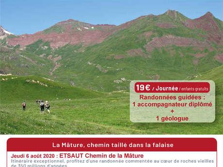 Randonnée géologique incontournable en vallée d'Aspe : Etsaut, la Mâture chemin taillé dans la falaise