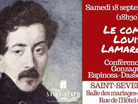 """Journée du Patrimoine : Conférence : """"Le Comte Louis Lamarque"""""""