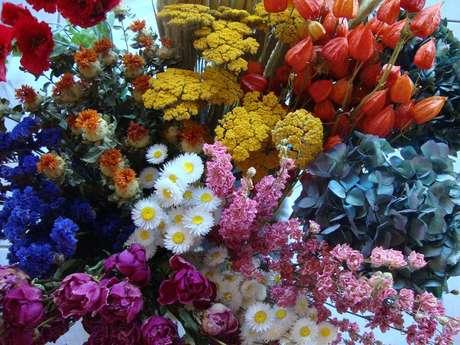 Atelier de fleurs séchées