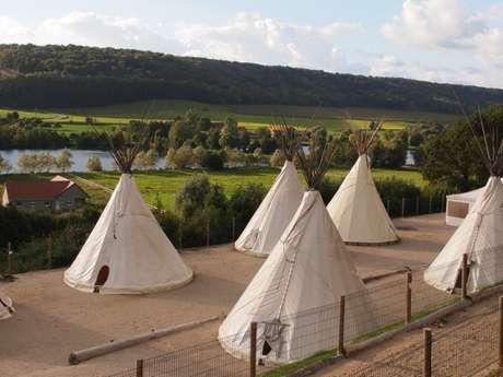 Rêve de bisons - tipis camping