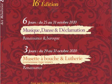 STAGE DE 3 JOURS - MUSETTE À BOUCHE & LUTHERIE / ACADÉMIE INTERNATIONALE DE LA COMPAGNIE OUTRE MESURE