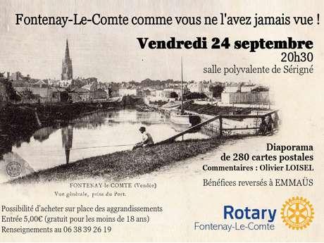 SOIRÉE PROJECTION DE CARTES POSTALES ANCIENNES DE FONTENAY-LE-COMTE