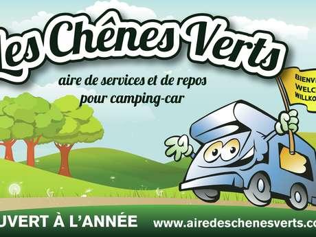 AIRE DES CHÊNES VERTS - AIRE DE STATIONNEMENT ET DE SERVICE CAMPING-CAR PRIVÉE A BREM/MER