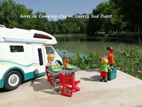 Aire privée de camping-car à Cazes Mondenard