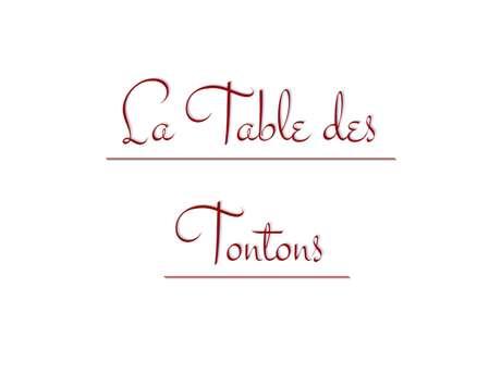 La Table des Tontons