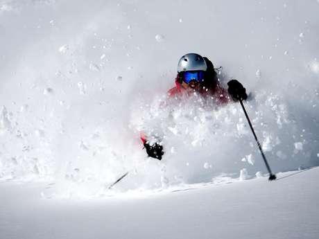 Ski hors piste au glacier du Grand Sablat