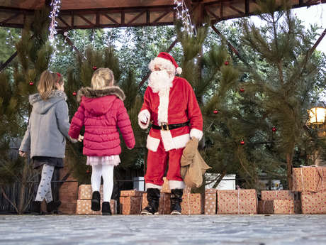 Christmas children and toys market in Grimaud