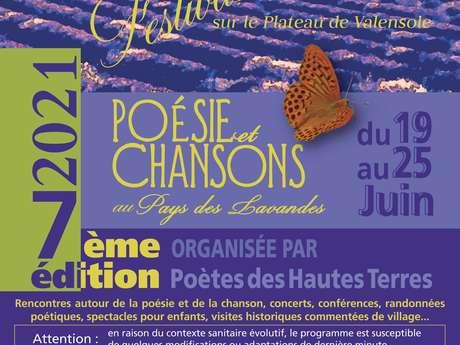 """7 ème édition du Festival """"poésie et chansons au pays des lavandes"""" à Valensole"""