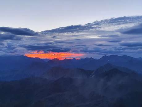 Lever de soleil au Grand Aréa