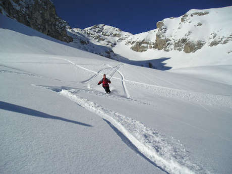 Ski hors pistes avec Eric Fossard, Bleu Montagne.