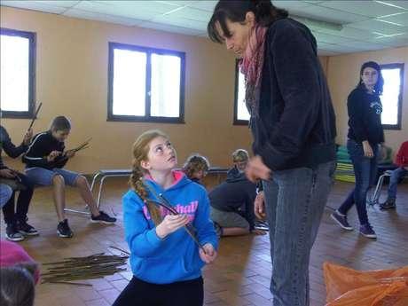 Mini-Atelier Vannerie Enfants 8-12 ans - Création Osier - Françoise Constant