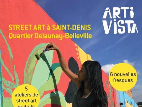 Arti Vista - Street-Art à Saint-Denis- 6 nouvelles fresques