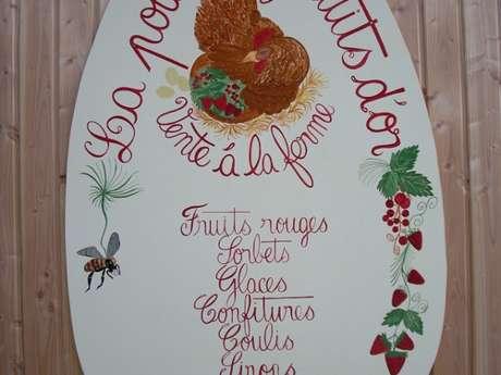 Vente d'oeufs et produits à base de fruits à la ferme La poule aux fruits d'or