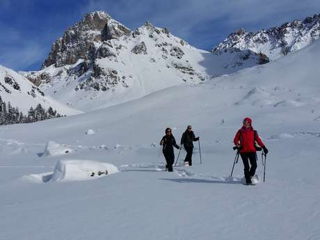 Raquettes avec Alain Tallaron, guide de haute montagne