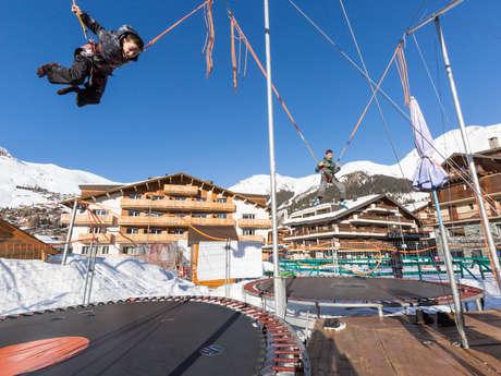 Trampoline avec l'Ecole Suisse de ski
