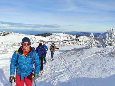 Demi-journée initiation au ski de randonnée