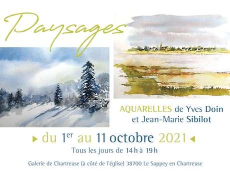 Paysages, aquarelles