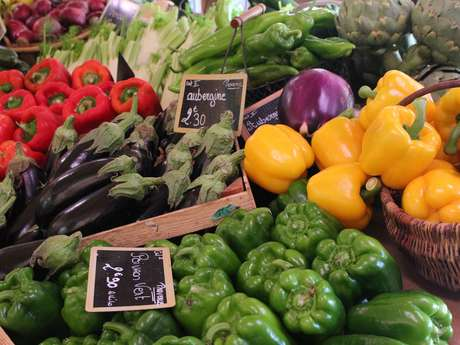 Fruits and vegetables at the Logis du Pin