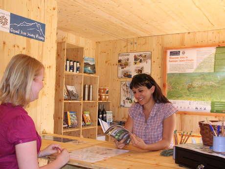 Kiosque d'information du Grand Site Sainte-Victoire à Bimont