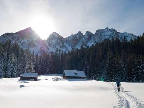 Randonnée raquettes à neige dans le Mercantour