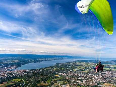 Tandem paragliding flights