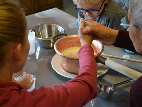 Visite commentée et atelier de fabrication de fromage