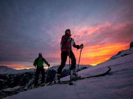 Night ski touring / Verbier-Savoleyres variation 1
