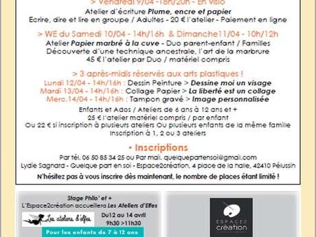 """Atelier Arts Plastiques Enfants Ados """"Tampon gravé"""""""