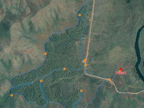 Piste 8 - Piste du Kaori de montagne aux Boucles de Netcha : piste inaccessible
