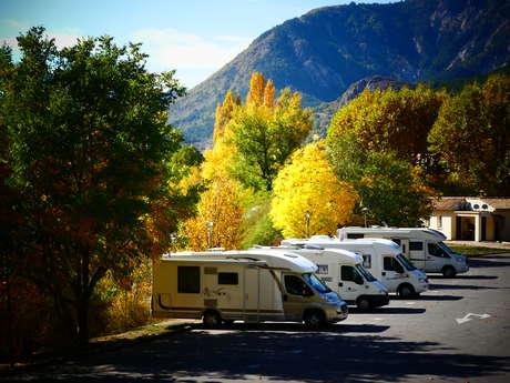 Aire  d'accueil municipale camping-cars la Boudousque