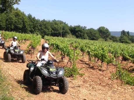 Balade en quad et dégustation de vins au Château de l'Aumérade avec Quad Var