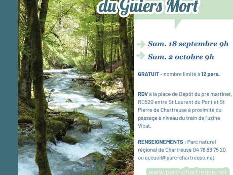 Suivis participatifs de la qualité des eaux du Guiers Mort