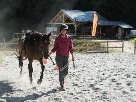 A cheval en montagne - Initiation équitation débutant