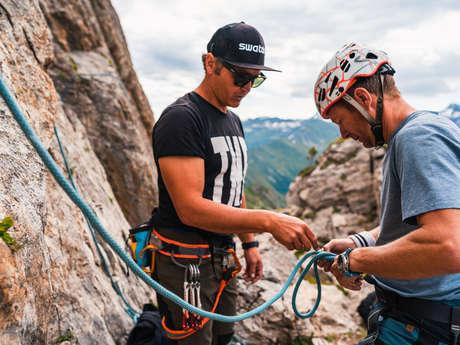 Klettern am Pierre Avoi mit Xavier de Le Rue