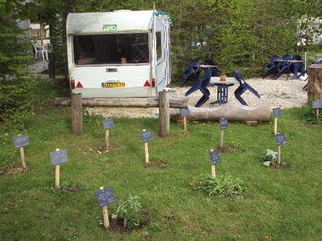 Jardin ethnobotanique au camping de l'Ourson