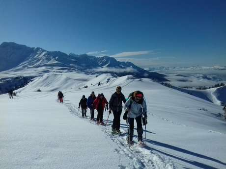 Snowshoeing in the resort Le collet with Belledonne Evasion