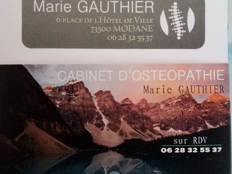 Ostéopathe Marie Gauthier