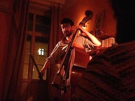 Concert Mathieu Barbances chansons et contrebasse