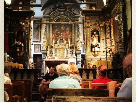 Découverte de l'église baroque du Casset puis de l'Eglise des Guibertes