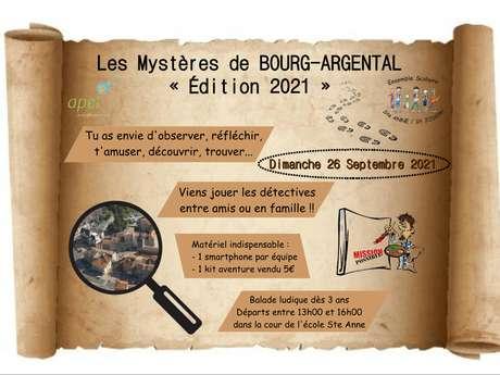 """Jeu de piste """"Les mystères de Bourg-Argental"""""""