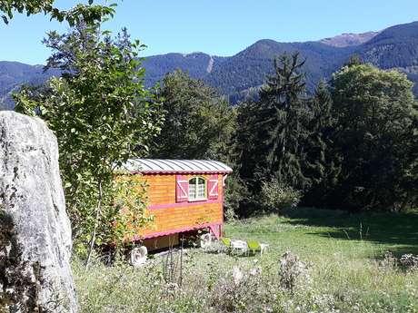 """""""Roulotte Authentique""""  camping les 7 Laux"""