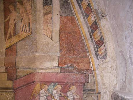 Découverte des chapelles décorées de peintures murales du XVème