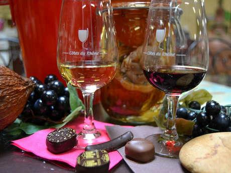 Accord Vins & Chocolat à la Chocolaterie Castelain